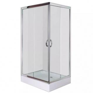 vidaXL Duschabtrennung mit Wanne rechteckig 100 x 80 x 185 cm