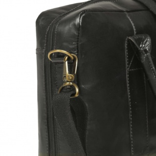 vidaXL Laptoptasche mit Reißverschluss Echtleder Schwarz - Vorschau 5