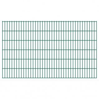 vidaXL 2D Gartenzaun-Elemente 2, 008x1, 23 m Gesamtlänge 36 m Grün