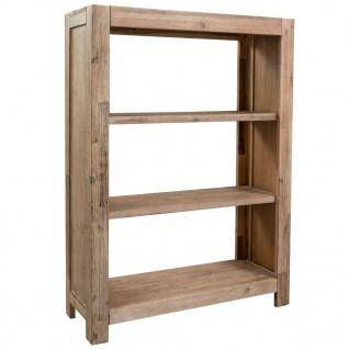 vidaXL Bücherregal 3 Fächer 80x30x110 cm Massivholz Akazie