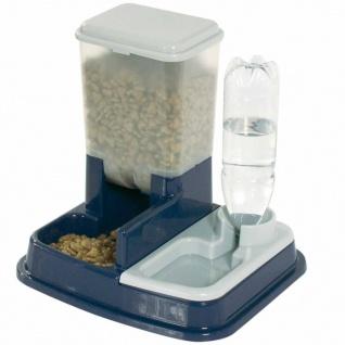 FLAMINGO Futter- und Wasserspender für Haustiere Duo Max Blau 5344046