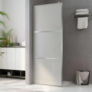 vidaXL Begehbare Duschwand mit voll mattiertem ESG-Glas 115x195 cm