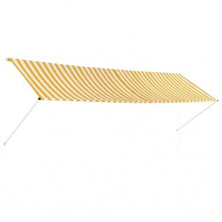 vidaXL Einziehbare Markise Gelb und Weiß 400 x 150 cm