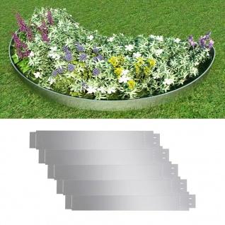 Flexible Rasenkante 5-er Set 100x15 cm Verzinkter Stahl