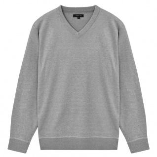 vidaXL Herren Pullover Sweater V-Ausschnitt Grau XL