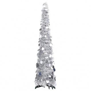 vidaXL Künstlicher Pop-Up-Weihnachtsbaum Silbern 120 cm PET
