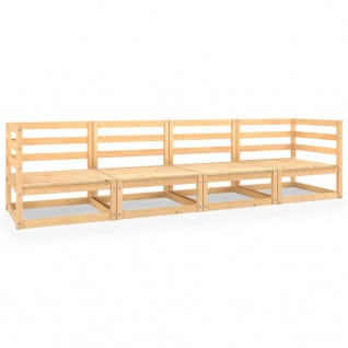 vidaXL 4-Sitzer-Gartensofa Kiefer Massivholz