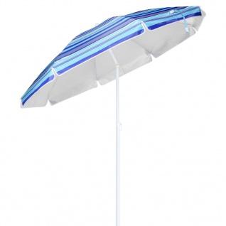 HI Sonnenschirm 200 cm Blau Gestreift