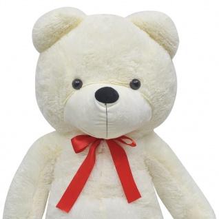 XXL Weicher Plüsch-Teddybär Weiß 175 cm - Vorschau 4