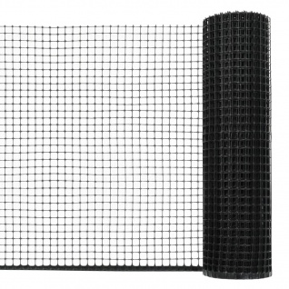 vidaXL Maschendraht HDPE 50 x 0, 6 m Schwarz