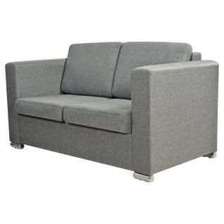 vidaXL 2-Sitzer Sofa Stoff Hellgrau - Vorschau 2