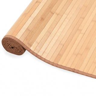 vidaXL Teppich Bambus 120×180 cm Braun