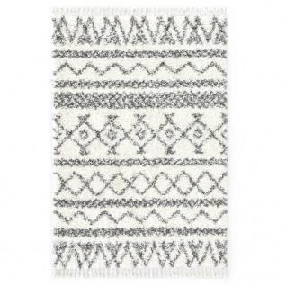 vidaXL Berberteppich Hochflor PP Beige und Grau 120×170 cm