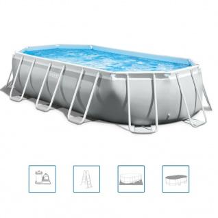 Intex Prism Frame Swimmingpool-Set Oval 503 x 274 x 122 cm 26796GN
