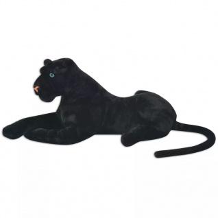 vidaXL Panther Plüschtier Schwarz XXL - Vorschau 2