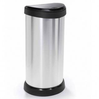Curver Abfalleimer Deco 40 L Silber