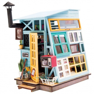 Robotime Miniatur-Modellbausatz Wooden Hut mit LED-Beleuchtung