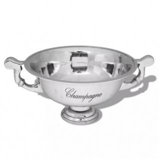 vidaXL Champagner-Kühler Pokal Aluminium Silber - Vorschau 1