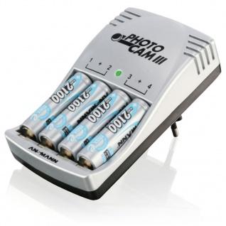 Ansmann Akku-Ladegerät PhotoCam III mit 4 Batterien 5117003