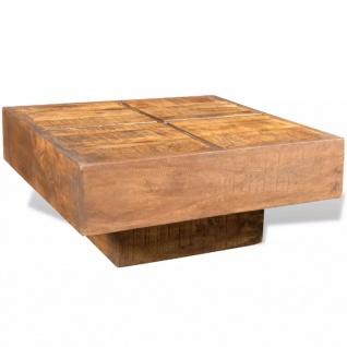 vidaXL Couchtisch Braun Quadratisch Massivholz Mango