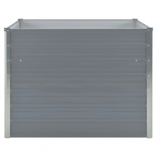vidaXL Hochbeet 100 x 100 x 77 cm Verzinkter Stahl Grau - Vorschau 5