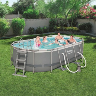 Bestway Power Steel Schwimmbecken-Set Oval 427×250×100 cm 56620 4