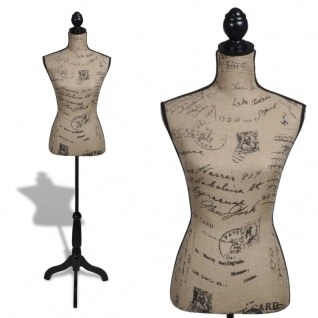 Damenbüste Schneiderpuppe Büste Torso Angezogen Mannequin Jute