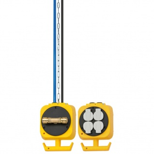 Brennenstuhl Pendel-Stromverteiler mit 4 Steckdosen 5 m Druckluft