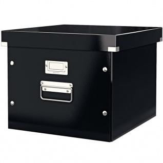 Leitz Ablage- und Transportbox für Hängeregistratur WOW Schwarz