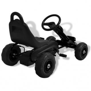 vidaXL Pedal Go-Kart mit Luftreifen Schwarz - Vorschau 4