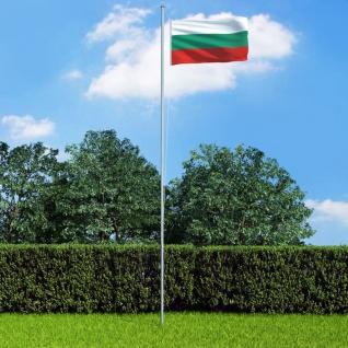 vidaXL Flagge Bulgariens und Mast Aluminium 6, 2 m