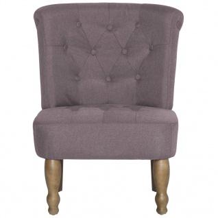 vidaXL Französische Stühle 2 Stk. Taupe Stoff - Vorschau 4