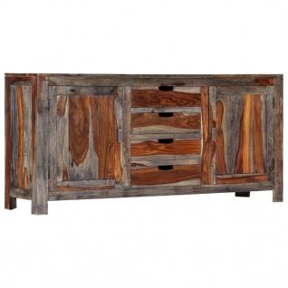 vidaXL Sideboard Grau 160 x 40 x 75 cm Massivholz Sheesham