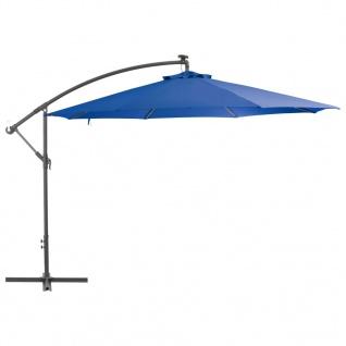 vidaXL Ampelschirm mit Alu-Mast 350 cm Blau