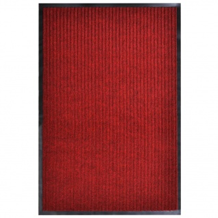 vidaXL Türmatte Rot 160x220 cm PVC