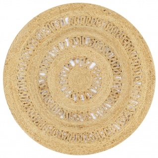 vidaXL Teppich Handgefertigt Jute Geflochten 90 cm