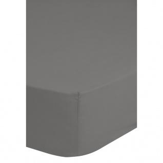 Emotion Bügelfreies Spannbettlaken 160x200 cm Grau 0220.03.45