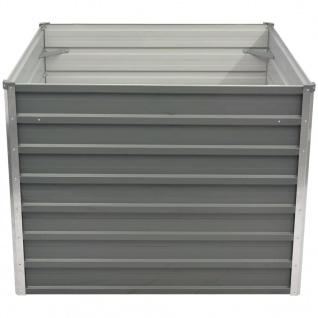 vidaXL Hochbeet 100 x 100 x 77 cm Verzinkter Stahl Grau - Vorschau 2