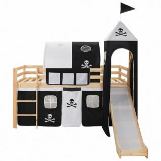 vidaXL Kinderhochbett-Rahmen mit Rutsche & Leiter Kiefernholz 97x208cm - Vorschau 2
