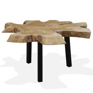 vidaxl couchtisch echtholz 80 x 70 x 38 cm