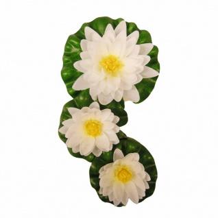 Ubbink 3-tlg. Dekoratives Seerosen-Set Weiß
