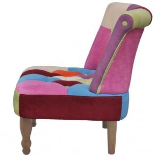 vidaXL Französischer Sessel 2 Stk. Patchwork-Design Stoff - Vorschau 5