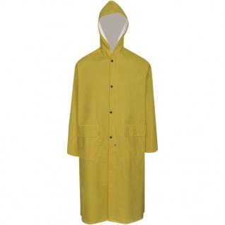 Langer Regenmantel mit Kapuze wasserdicht hochbelastbar gelb L