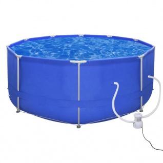 Schwimmanlage Stahlrahmen Oberirdisch 367 Pumpe 300 gal / h