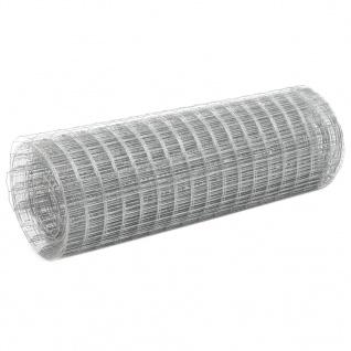 vidaXL Drahtzaun Verzinkter Stahl 25x0, 5 m Silbern
