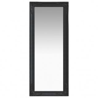 vidaXL Wandspiegel im Barock-Stil 50 x 120 cm Schwarz