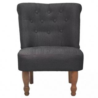 vidaXL Französische Sessel 2 Stk. Grau Stoff - Vorschau 3
