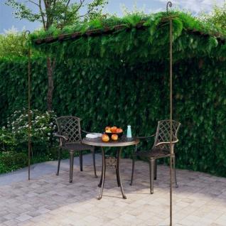 vidaXL Garten-Rosenbogen Antik-Braun 4x3x2, 5 m Eisen