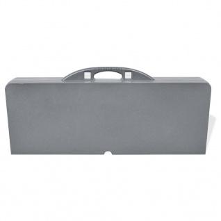 Klappbares Campingtisch-Set Aluminium mit 4 Stühlen extra leicht grau - Vorschau 5