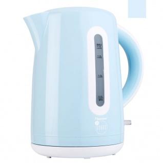 Bestron Elektrischer Wasserkocher 1, 7 L 2200 W Blau AWK300EVB